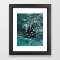 Let's Run Away - Ocean Waves Framed Art Print