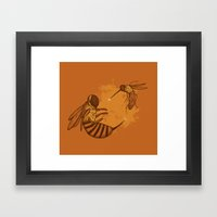 Fencing Framed Art Print