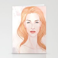 Pink Alice II Stationery Cards