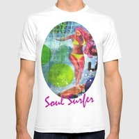 Soul Surfer I Mens Fitted Tee White SMALL