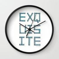 EXQUISITE Wall Clock