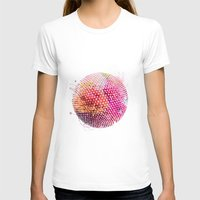 Dots Womens Fitted Tee White SMALL