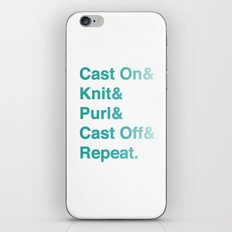 Knitting - Helvetica Ampersand Style iPhone & iPod Skin