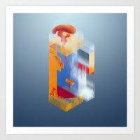 Castle Of Impossible Fla… Art Print