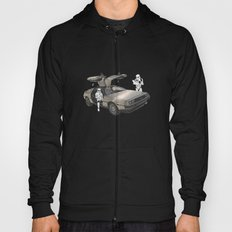 Lost, searching for the DeathStarr _ 2 Stormtrooopers in a DeLorean  Hoody