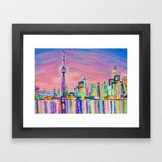Toronto Skyline Framed Art Print