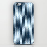 Herringbone Navy Inverse iPhone & iPod Skin