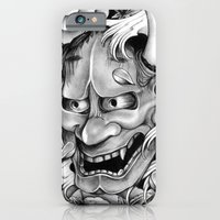 iPhone Cases featuring Hannya Mask by leonmorley