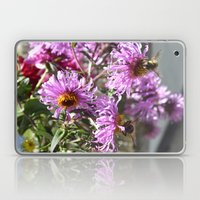 Two Busy Bees on Violet Flowers Laptop & iPad Skin
