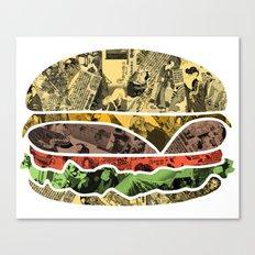 The Rising Burger Canvas Print