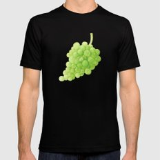Green Grapes Mens Fitted Tee Black SMALL