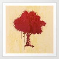 S Tree T Art Print