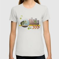 Urban Jungle #3 Womens Fitted Tee Silver SMALL
