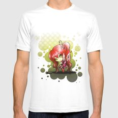Valentina White Mens Fitted Tee SMALL