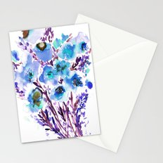 Bouquet Blue Stationery Cards