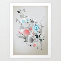 Walking In Space II Art Print
