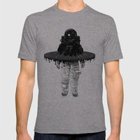 Through the Black Hole Mens Fitted Tee Tri-Grey SMALL