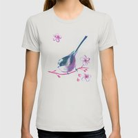 waiting for the spring Womens Fitted Tee Silver SMALL