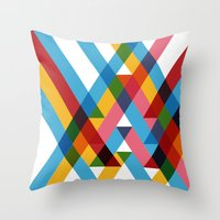 Ribbons Overlay ///www.p… Throw Pillow