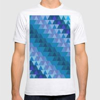 Digital Waves Mens Fitted Tee Ash Grey SMALL