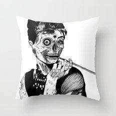 Zombie At Tiffany's Throw Pillow
