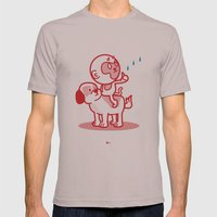 The Dog, The Monkey, And… Mens Fitted Tee Cinder SMALL
