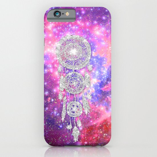 Galaxy Nebula Glitter dreamcatcher Pink Purple Space iPhone & iPod Case