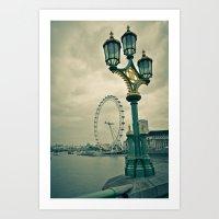 View of the London Eye Art Print