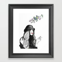 Die Pause Framed Art Print