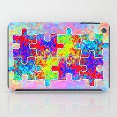Autism Colorful Puzzle Pieces iPad Case