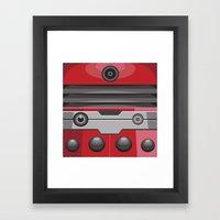 Dalek Red - Doctor Who Framed Art Print