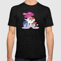 My Little Unico Mens Fitted Tee Tri-Black SMALL