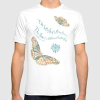 Butterflies Like Flowers… Mens Fitted Tee White SMALL