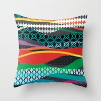 Wave Blaze Throw Pillow