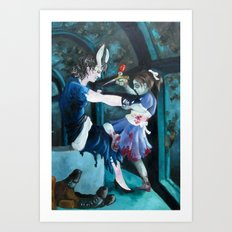 Young Splicer Defending Herself Against a Little Sister Art Print
