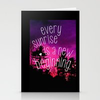 Sunrises are New Beginnings Stationery Cards