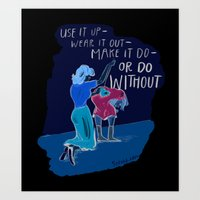 Use it up! Art Print