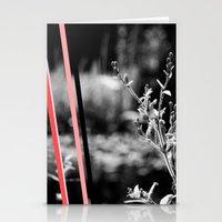 garden stripes Stationery Cards