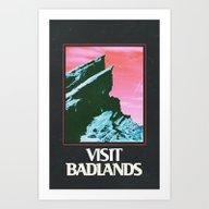 BADLANDS POSTER // HALSE… Art Print