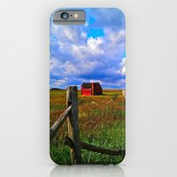 iPhone & iPod Case featuring One Red Barn by Biff Rendar