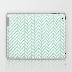 Herringbone Mint Laptop & iPad Skin