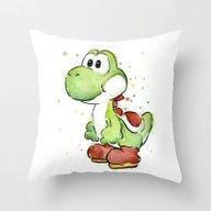 Yoshi Throw Pillow