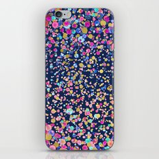 Gold Confetti Color blur Midnight Navy iPhone & iPod Skin