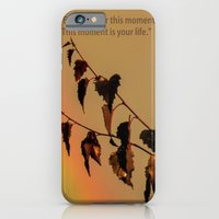 iPhone & iPod Case featuring Rainbow and copper leaves by Valerie Anne Kelly