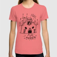 Hausu Womens Fitted Tee Pomegranate SMALL