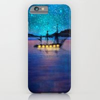 iPhone Cases featuring Ship in the lights by Viviana Gonzalez