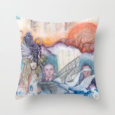 Sunset Gala Throw Pillow