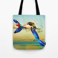 Exotic Macaws Tote Bag