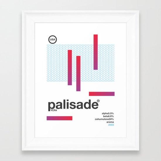 palisade single hop Framed Art Print