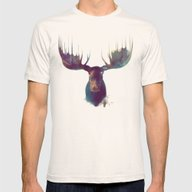 Moose Mens Fitted Tee Natural SMALL